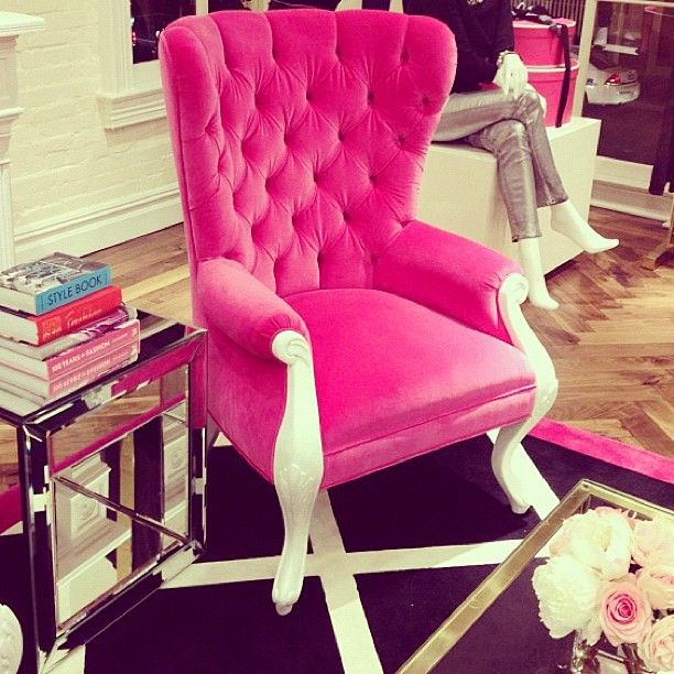 Hot Pink Upholstered Chair