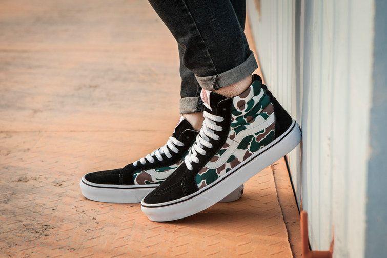 Vans Sk8 Hi X Bape Idx Camo High Top Vans For Sale Vans High Top Vans Vans Sneakers