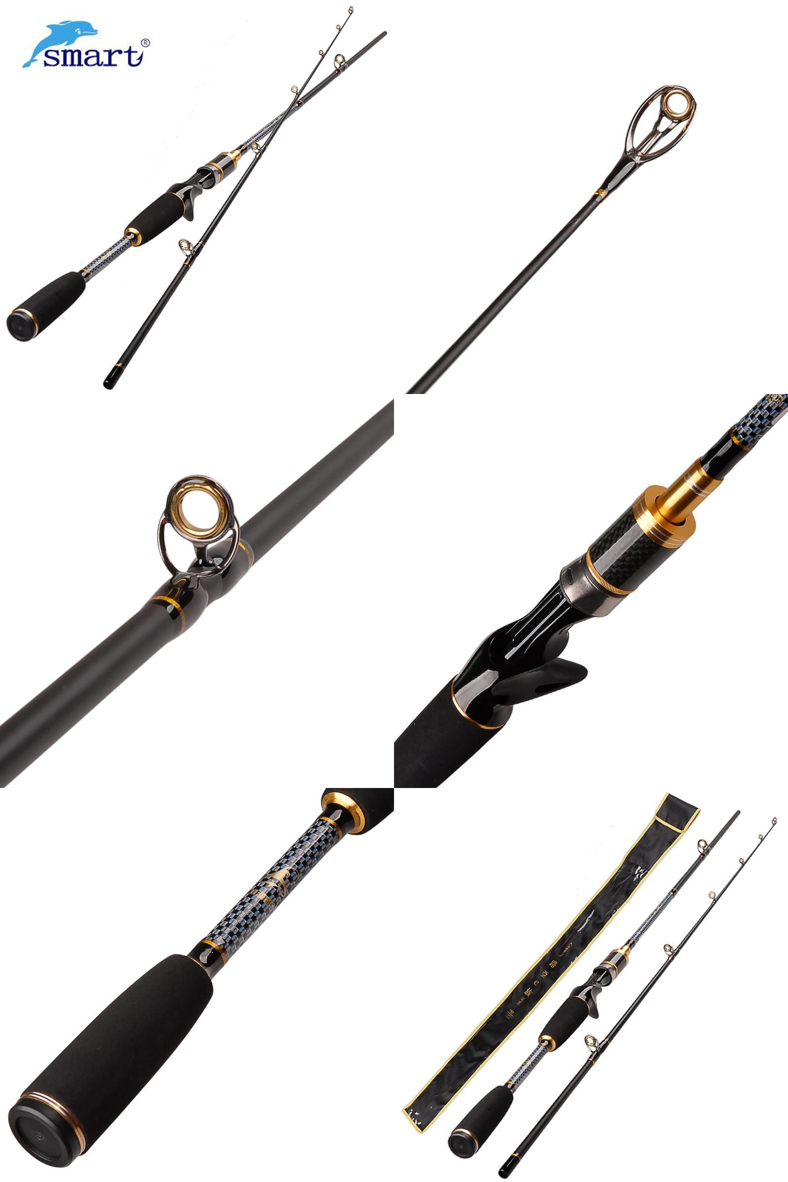 Visit to Buy] SMART 1 8m 2Section Baitcasting Fishing Rod Power M