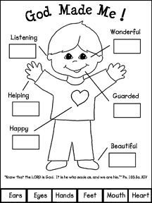Preschool Creation Coloring Sheets God Made Me Book Craft For
