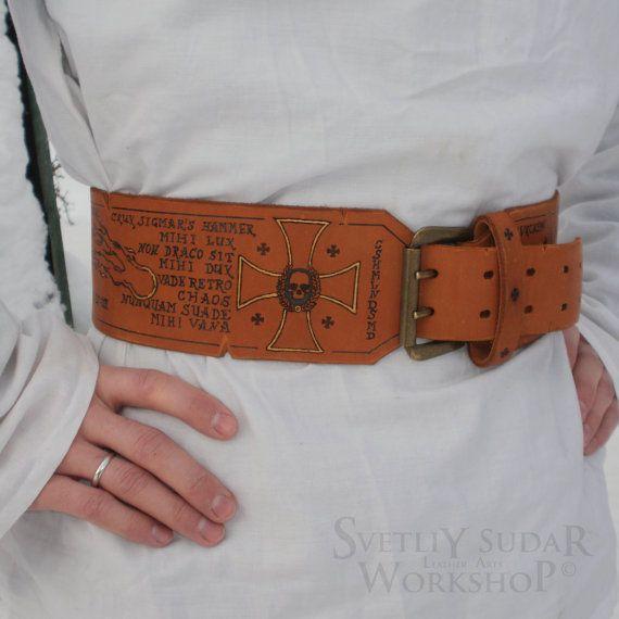 afe68bee Leather belt Sigmar / Warhammer / Imperial от SvetliySudarWorkshop ...