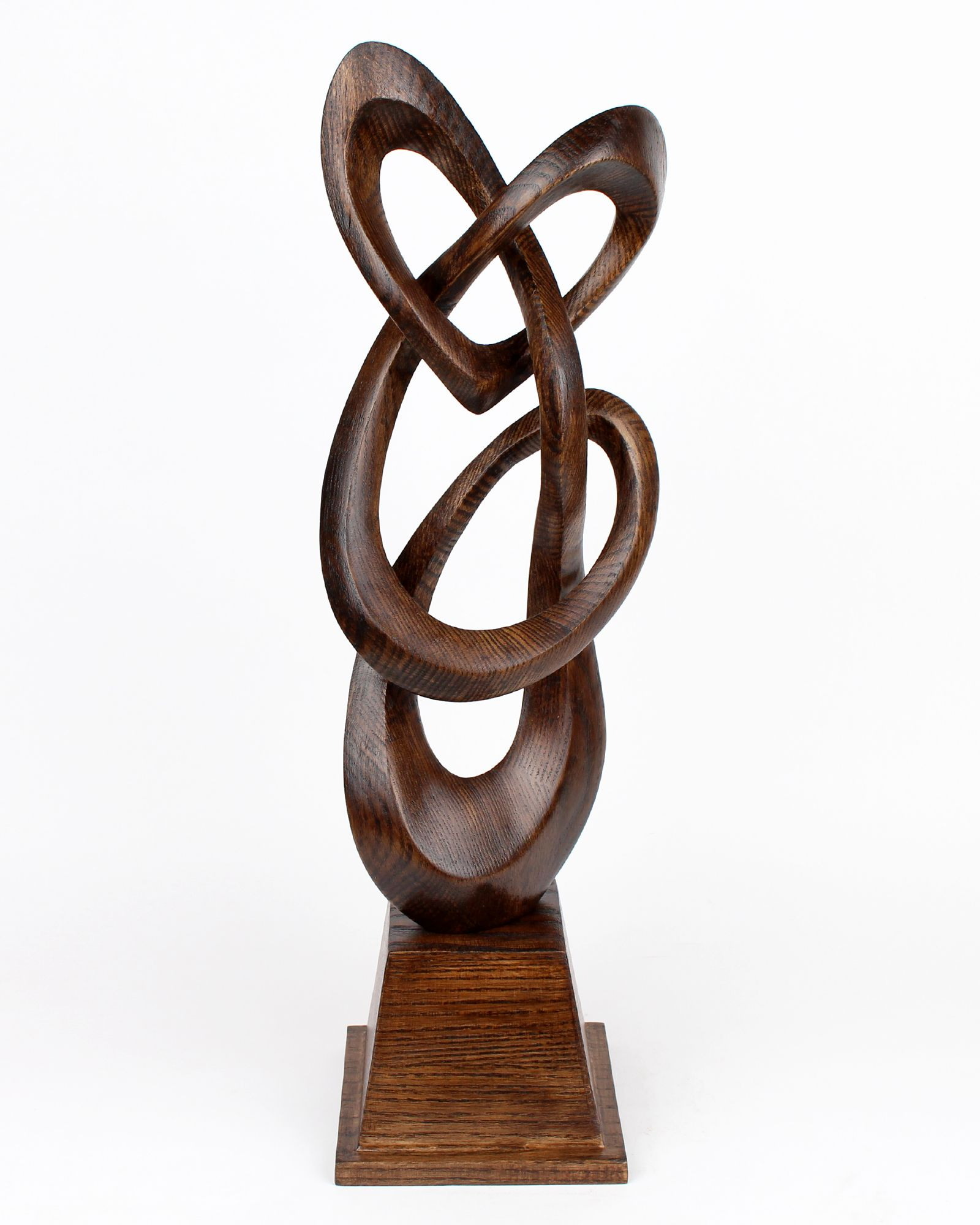 Abstract Wooden Heart Figurine For Home