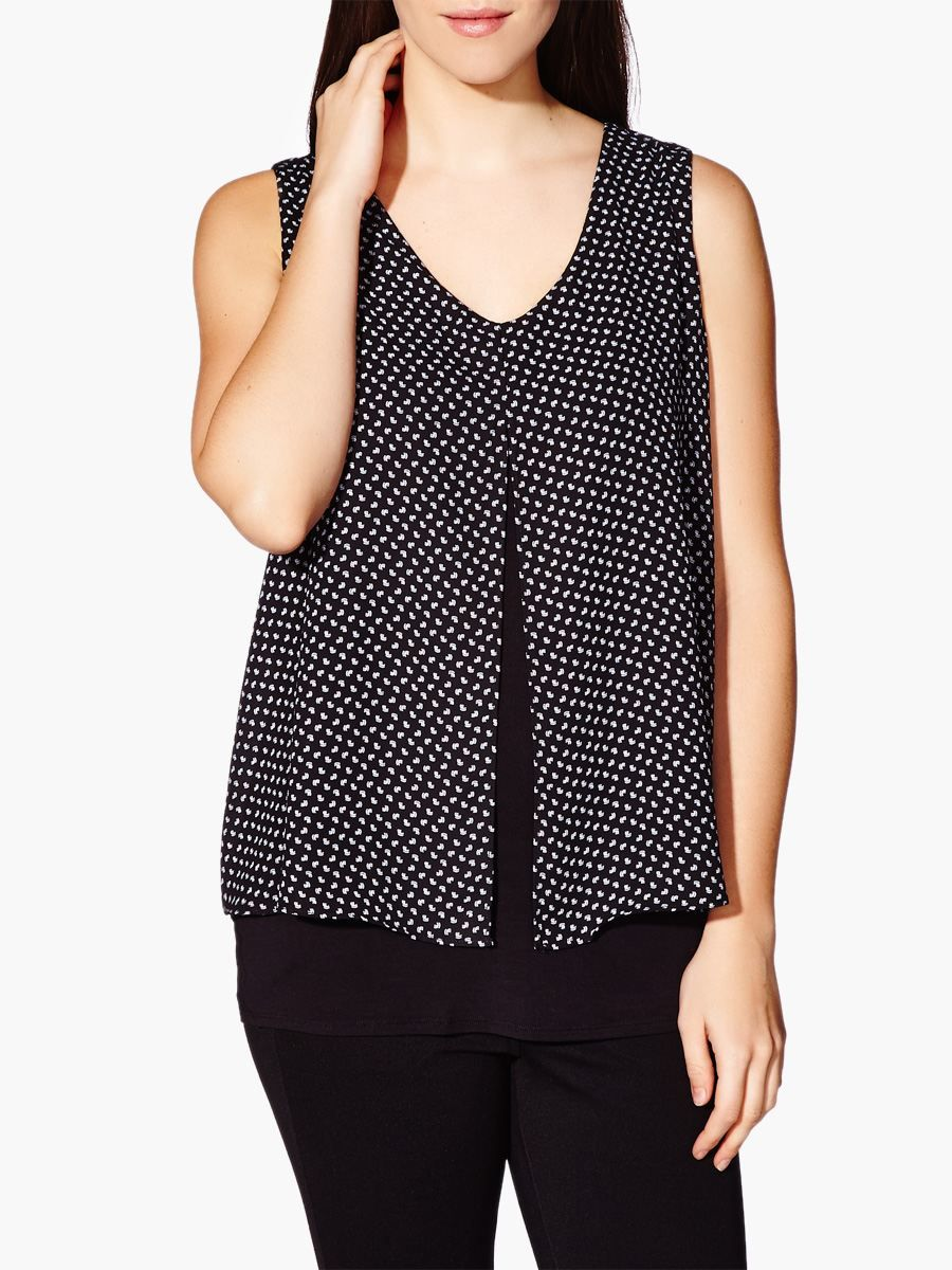 5ae86d00acb Thyme Maternity Sleeveless Printed Layered Nursing Top - looks like it  might be too short
