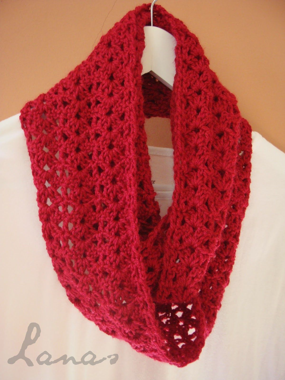 Lanas de Ana: RED SCARF (Graphic Pattern) | Crochet accesories ...
