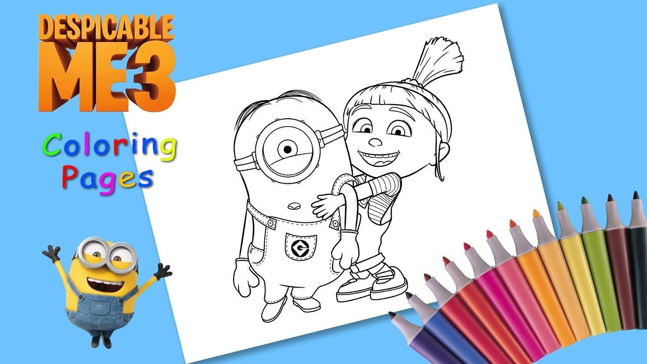 Coloring Despicable Me 3 Coloring Agnes And Minion For Kids How To Draw Coloring Pages Coloring Pages For Kids Drawings
