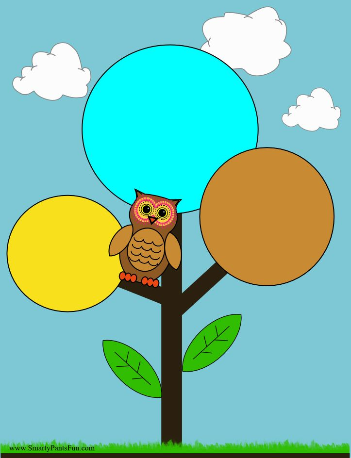 Owl in a Tree Coloring page and craft. Print it for free. | Free ...