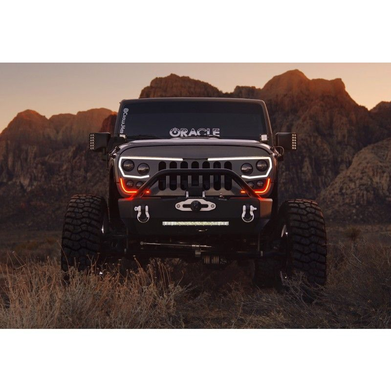 Oracle Vector Grill Matte Black Jeep Wrangler Grill Jeep