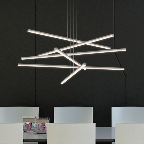 10 modern options for ambient lighting led pendant lights stix 6 arm led pendant light by robert sonneman on ylighting aloadofball Image collections