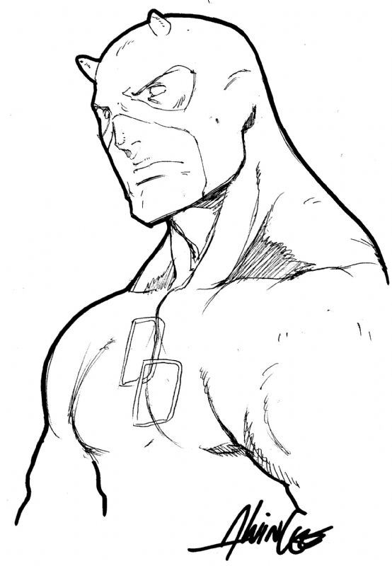 Daredevil by alvin lee drawing time pinterest for Daredevil coloring pages