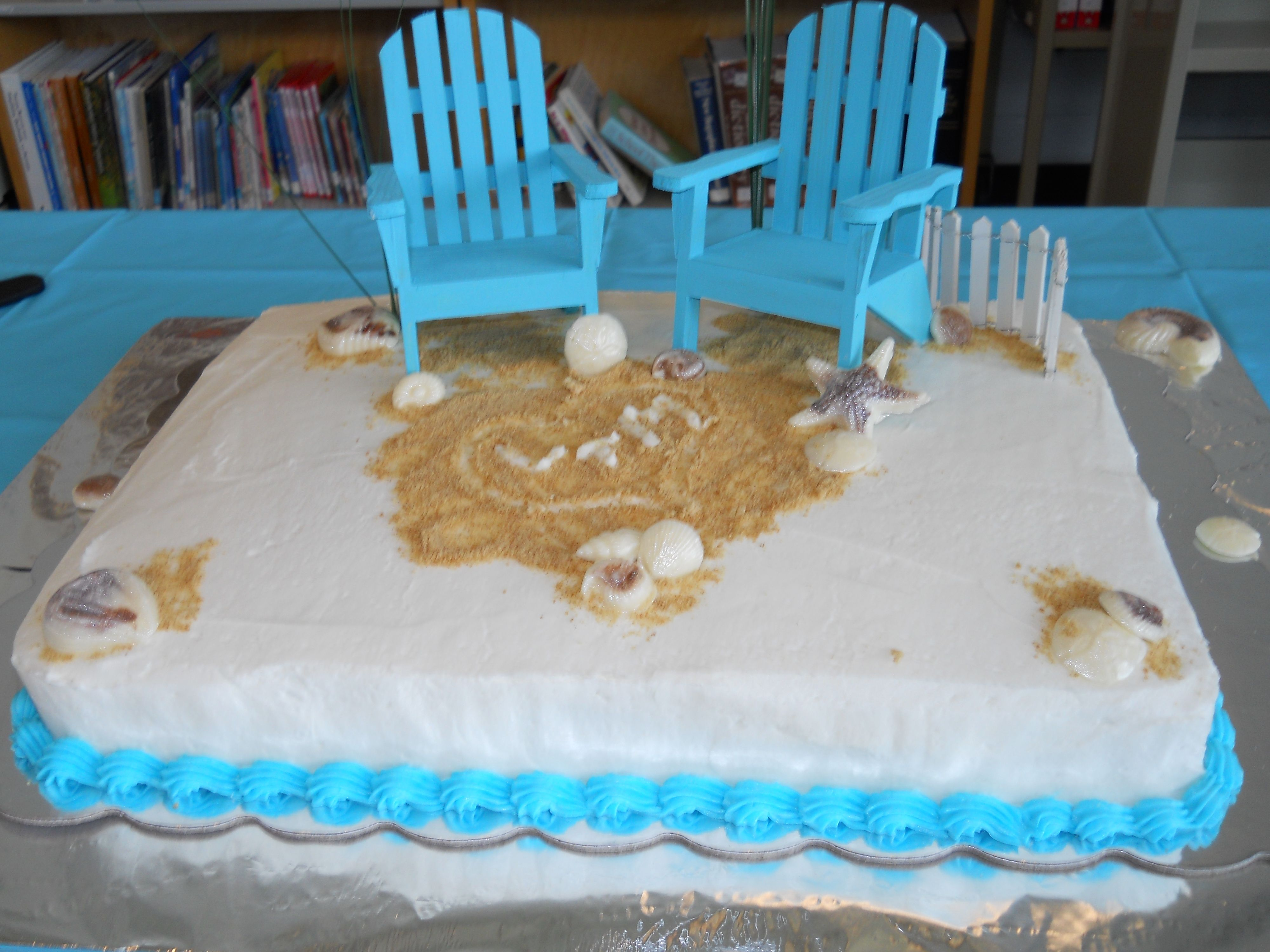 Beachthemeweddingsheetcakes author archives not2crumby the perfect cake for a beach themed bridal shower junglespirit Choice Image