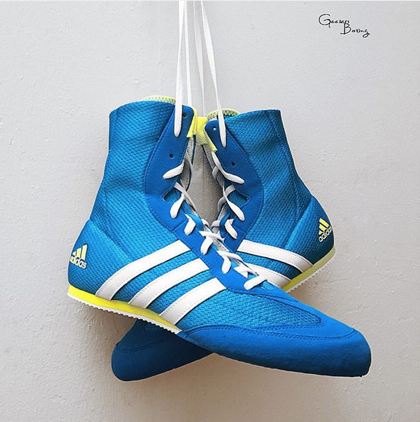 32e65170353 NEW ARRIVALS – Adidas Box Hog 2 – Shock Blue Available in junior and senior  sizes