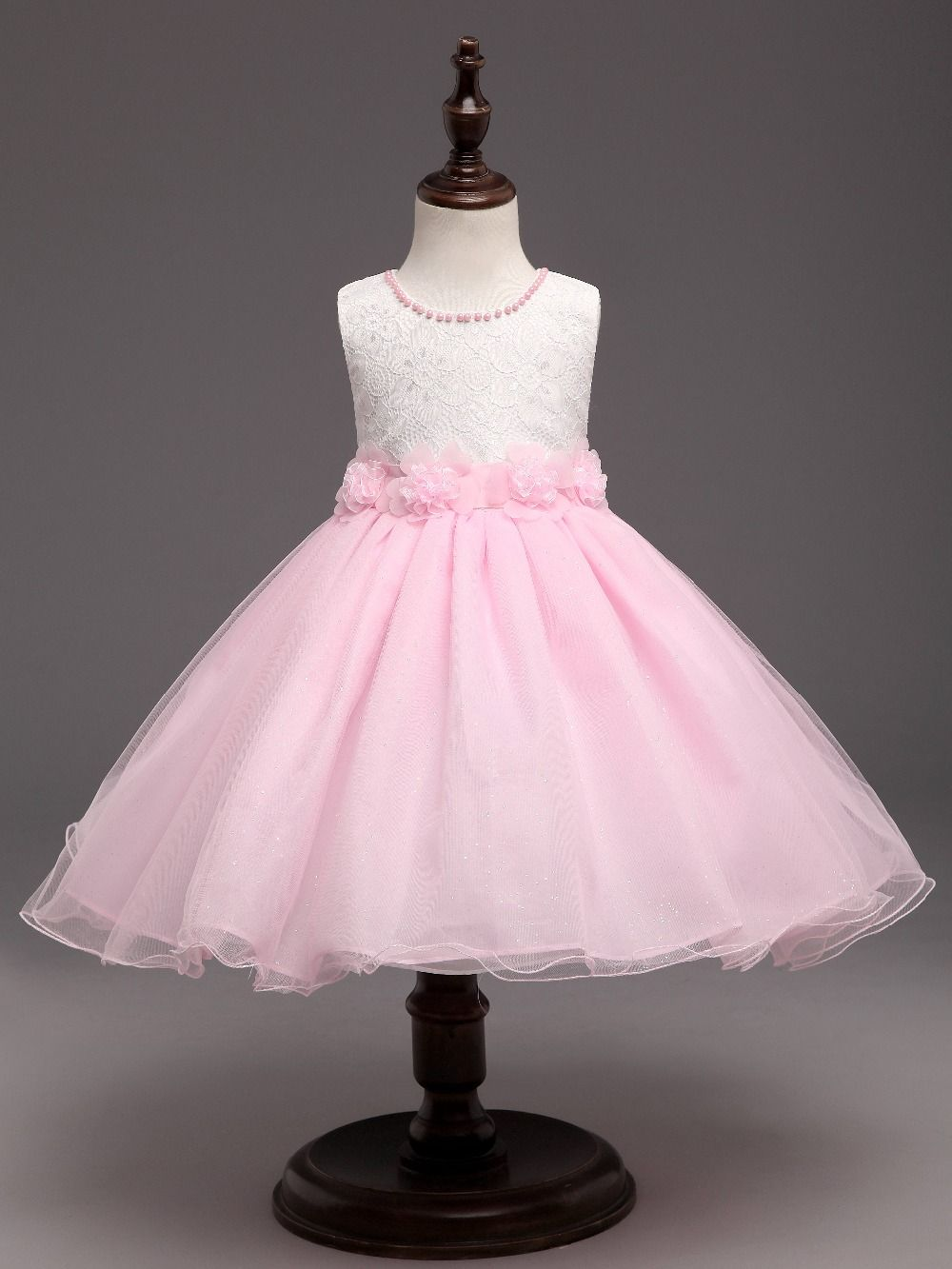 Vestido de boda de la princesa del bebé infantil de la muchacha para ...