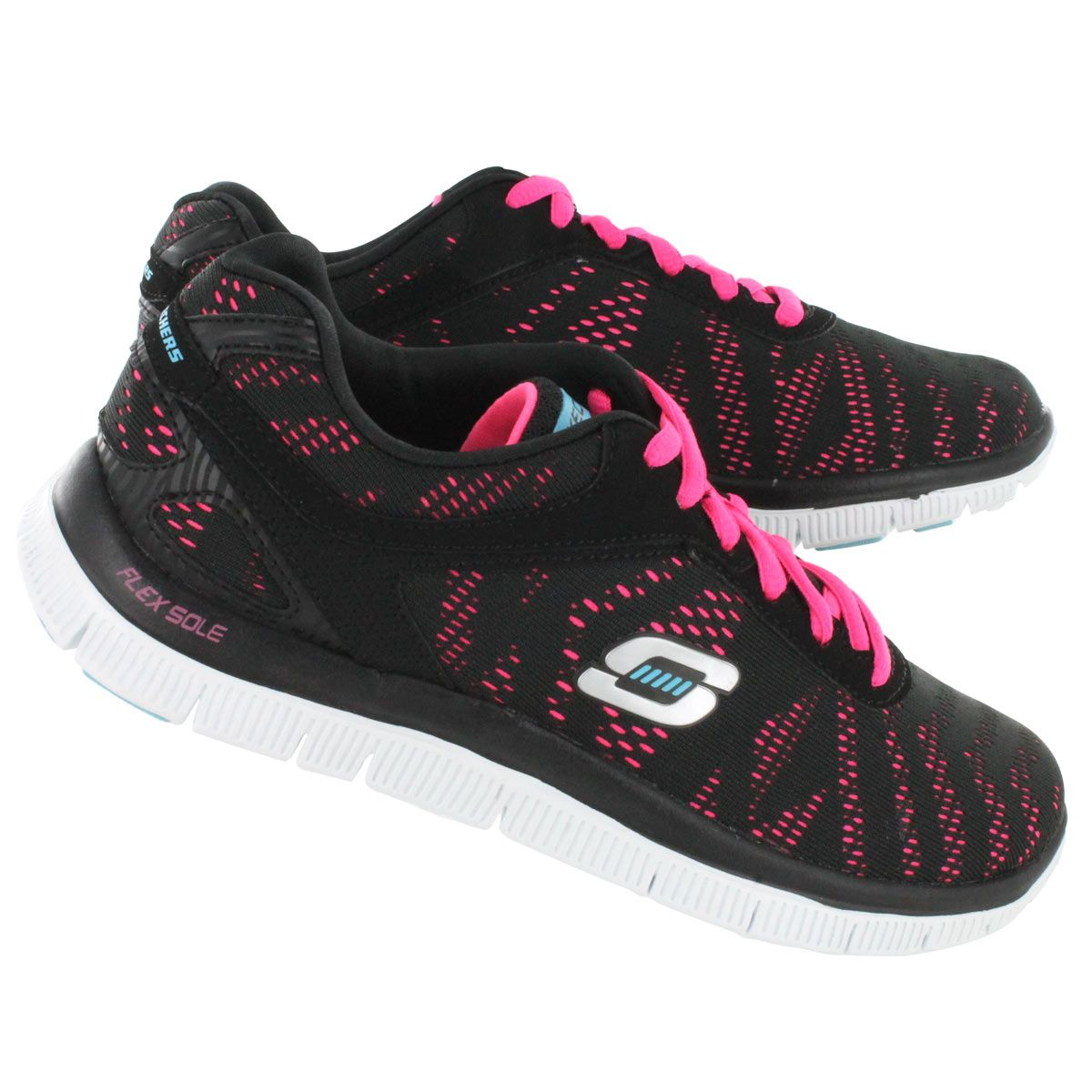 black pink skechers