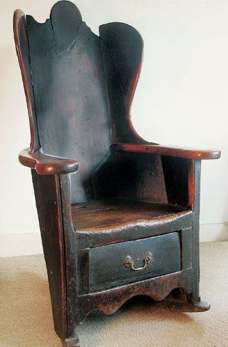 Early 1800s Winged Arm Chair Made In