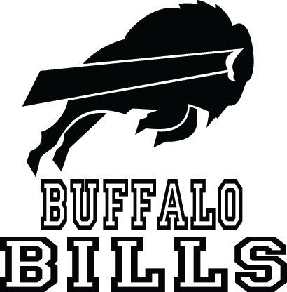 Buffalo Bills Football Logo  Name Custom Vinyl By VinylGrafix - Football custom vinyl decals for cars