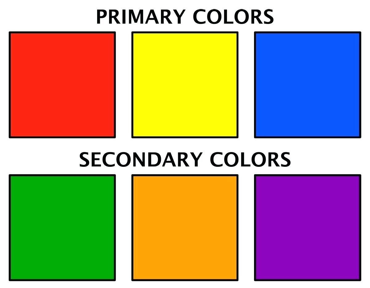 Secondary Colors Wheel Worksheet