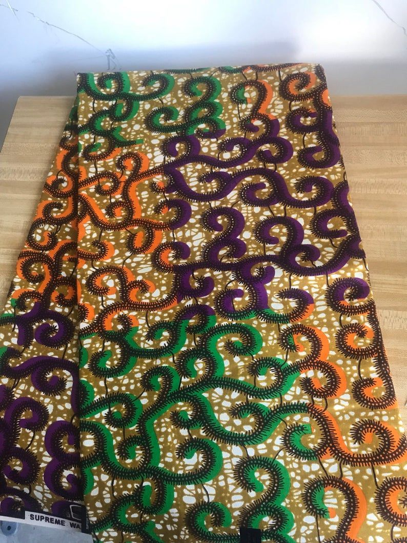 African Fabric SupremeAfrican PrintsAfrican FabricCraftsAfrican Clothing Ankara  Wax patch supreme fabric sold by yard