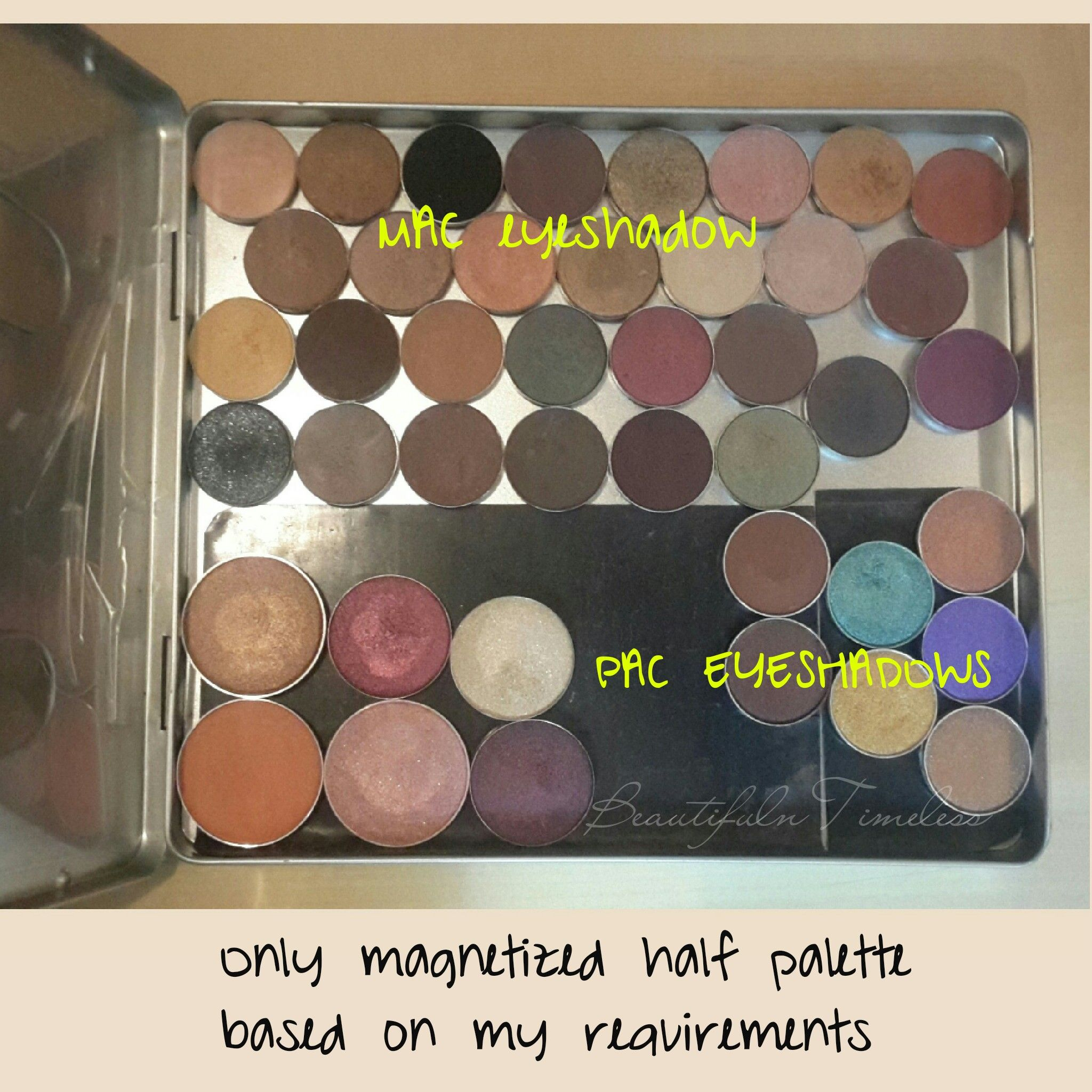 DIY , eyeshadow palettes,Metalizing your non