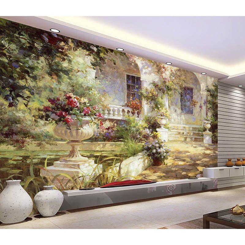 Hd Mediterranean 3d Customized Photo Wallpaper Wall Mural Home Decor