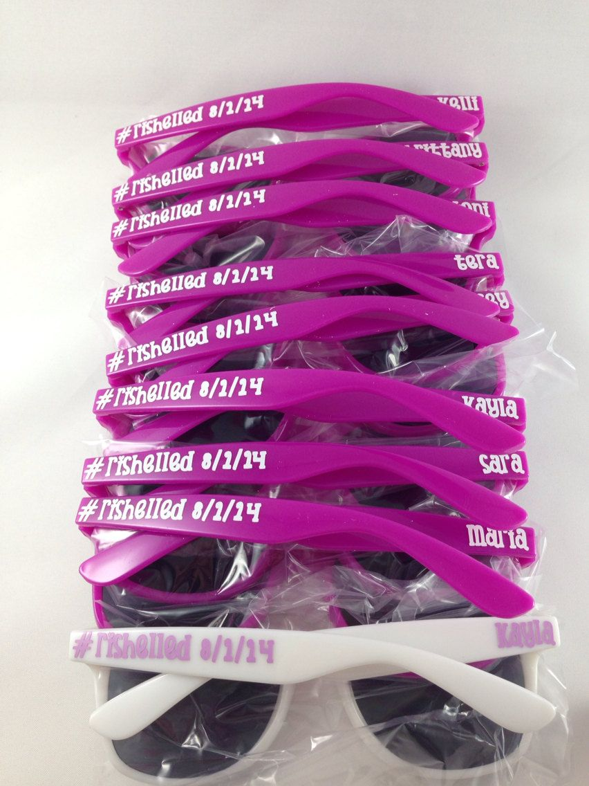 Personalized Wayfarer Sunglasses: Beach, Favor, Bachelorette Party ...