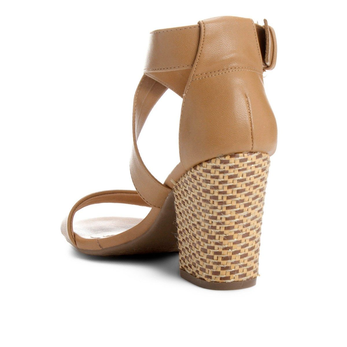 179894ad1 Compre Sandália Ramarim Salto Grosso Multi Tiras Feminina - Caramelo e  muito mais em roupas