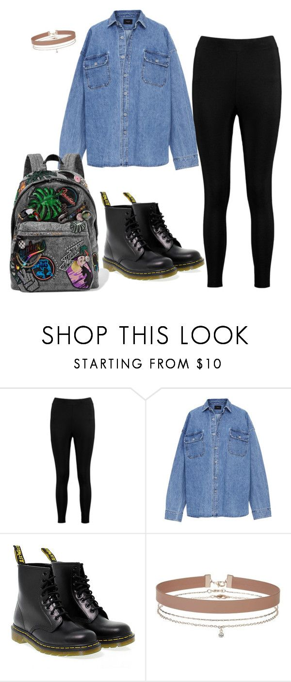 """Black leggings"" by cbgzajunk ❤ liked on Polyvore featuring Boohoo, Dr. Martens, Miss Selfridge and Marc Jacobs"
