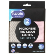 Addis Microfibre Pro Clean Cloths 2pk Bathroom Cleaning Clothes Washing Up Liquid Washing Up Bowls