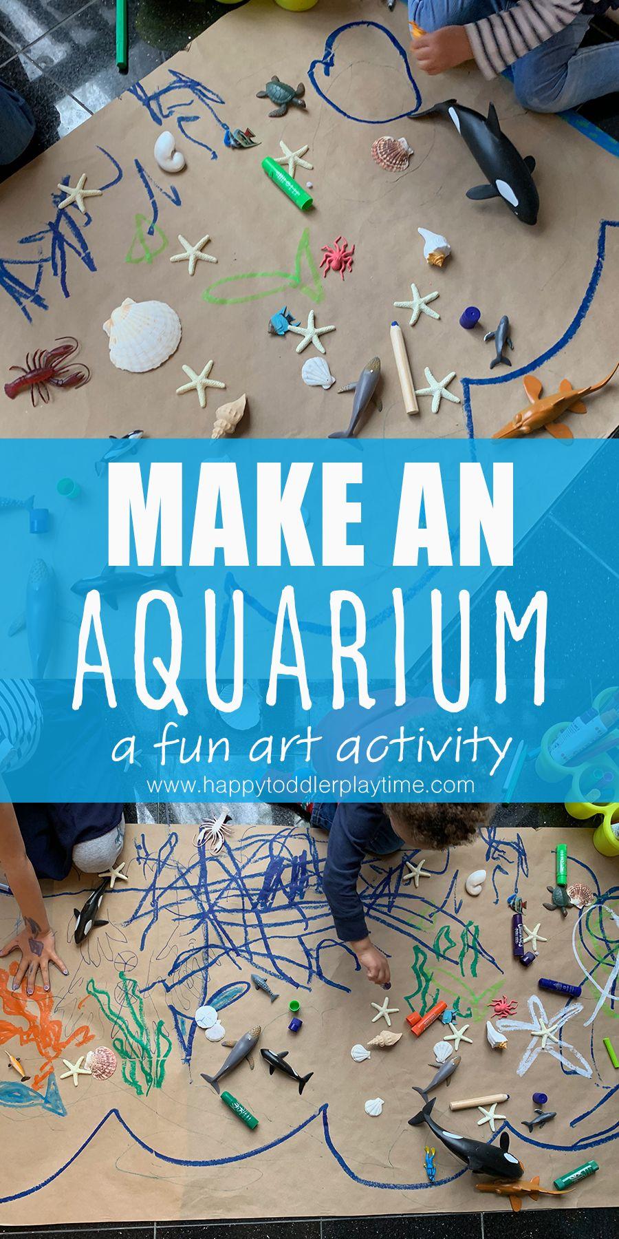 Make an Aquarium: An Easy Art Activity - HAPPY TODDLER ...