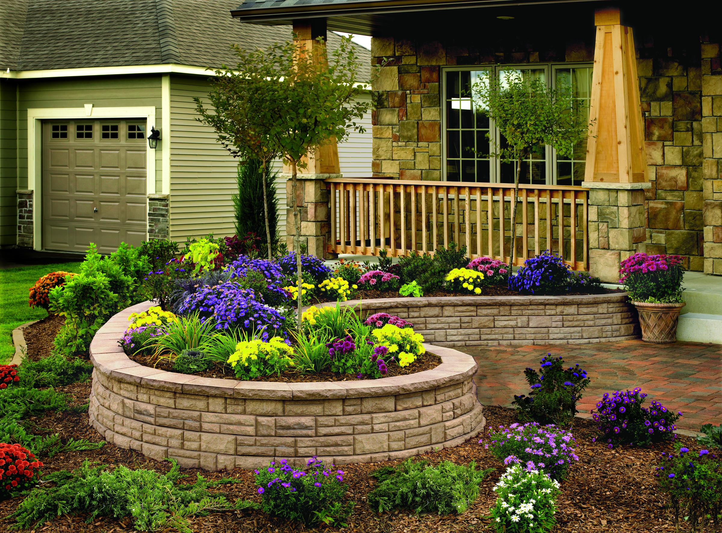 Retaining Walls Front yard garden design, Front yard