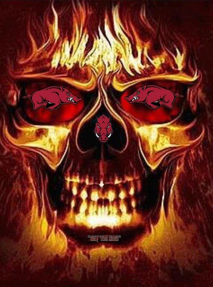 Pin By Diane Duvall On Love My Hogs Skull Pictures Skull Wallpaper Skull Fire