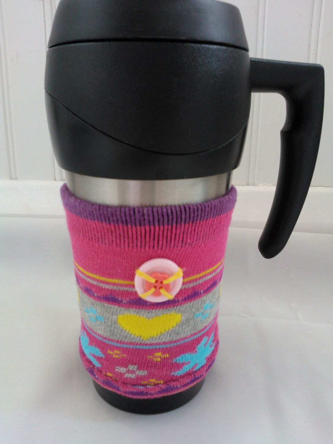 Coffee cup cosy fun colleague gift takeaway drink sleeve