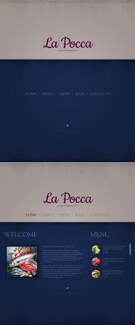Seafood restaurant wordpress theme theme scheme pinterest template monster la pocca maxwellsz