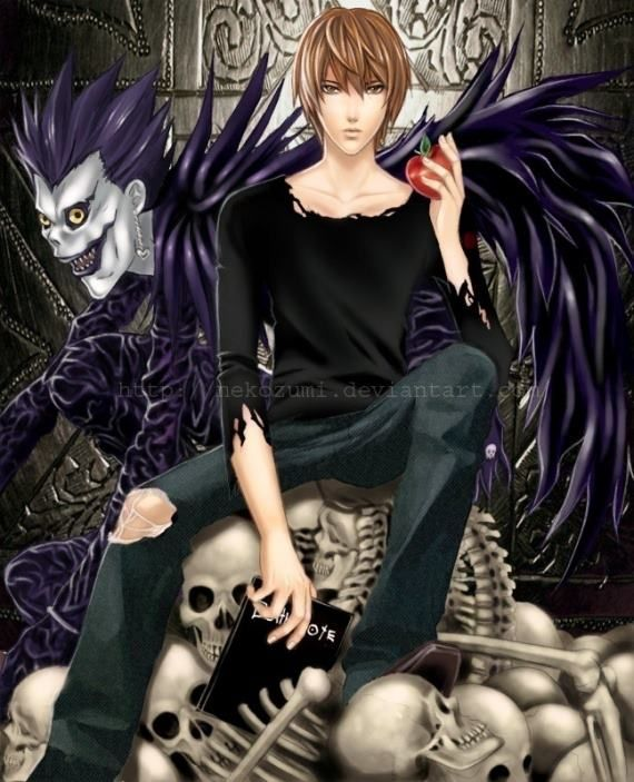 Ryuk,Light Yagami,Kira - Death Note Death Note Pinterest - death note