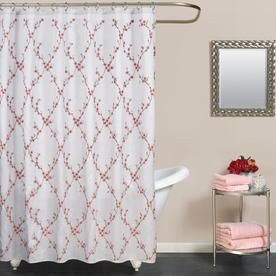 Zenna Home Polyester Multi Color Floral Shower Curtain Fabhanl