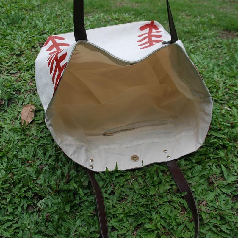 1 pcs  lot  monogram baseball tote bag mom shoulder bag