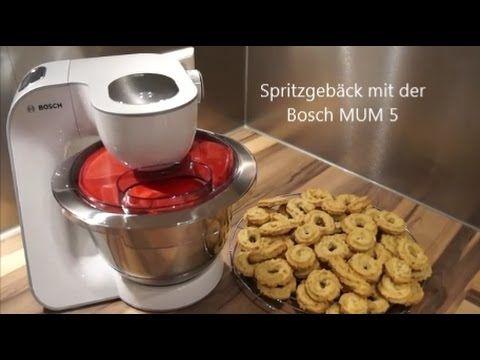 Spritzgeback Mit Der Bosch Mum 5 Youtube Spritzgeback Spritzgeback Rezept Geback