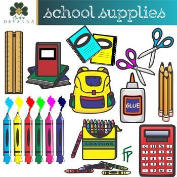 Free School Supplies Clip Art Aula Preescolar Costura