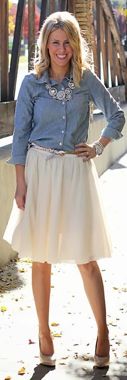#Chambray + #Tulle by Perfection Possibilities