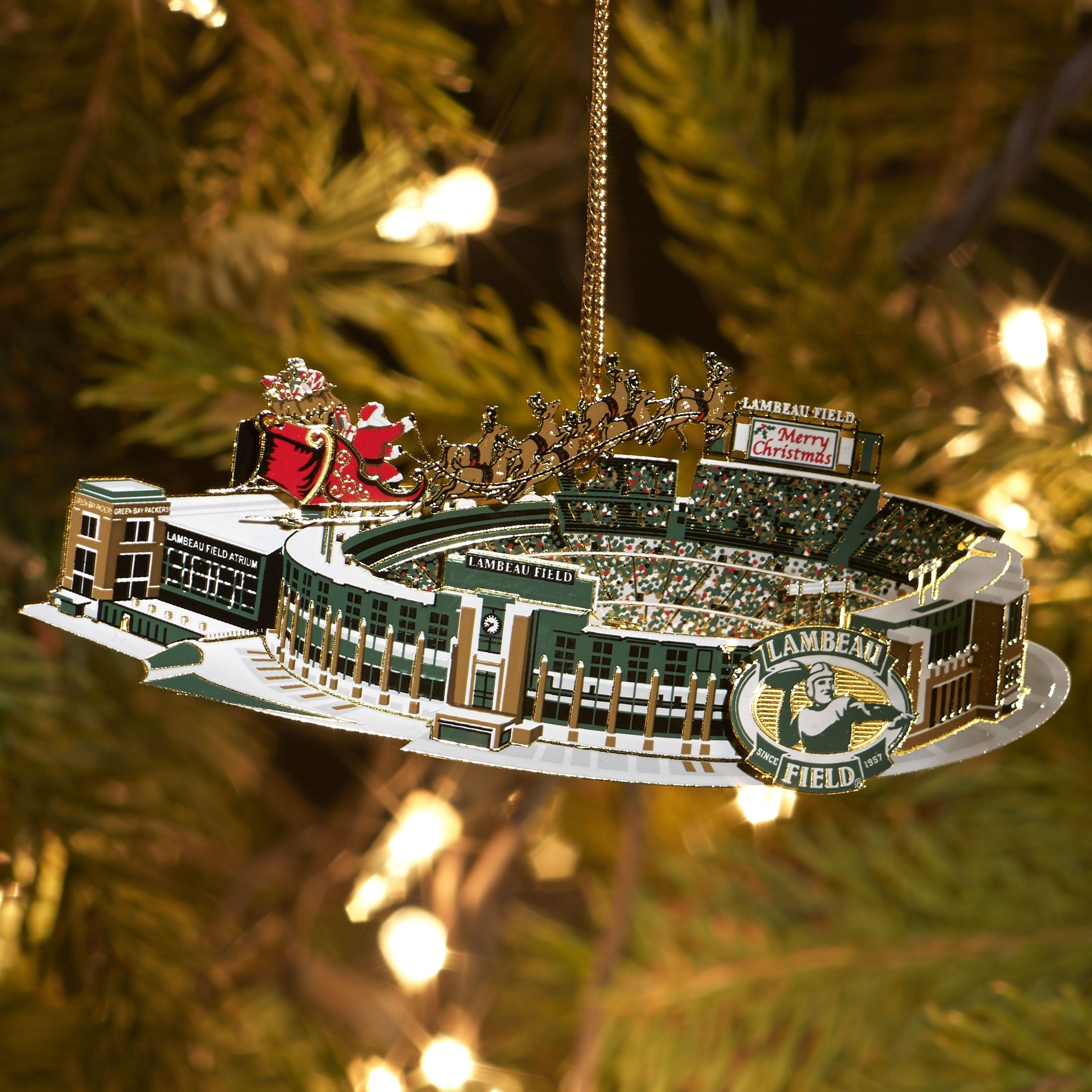 6c3e395d Lambeau Field Brass Stadium Ornament | Packer Pride | Packers pro ...