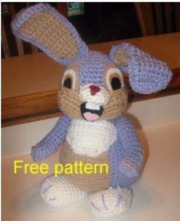 Free Crochet Pattern For Bunny Pin : Haakpatroon Stampertje, lees meer op haakinformatie.nl ...