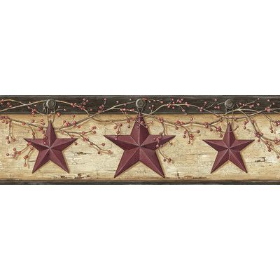 August Grove Kelsea Rustic Star Trail 15 X 6 3d Embossed Border Wallpaper In 2021 Rustic Star Barn Star Wallpaper Border