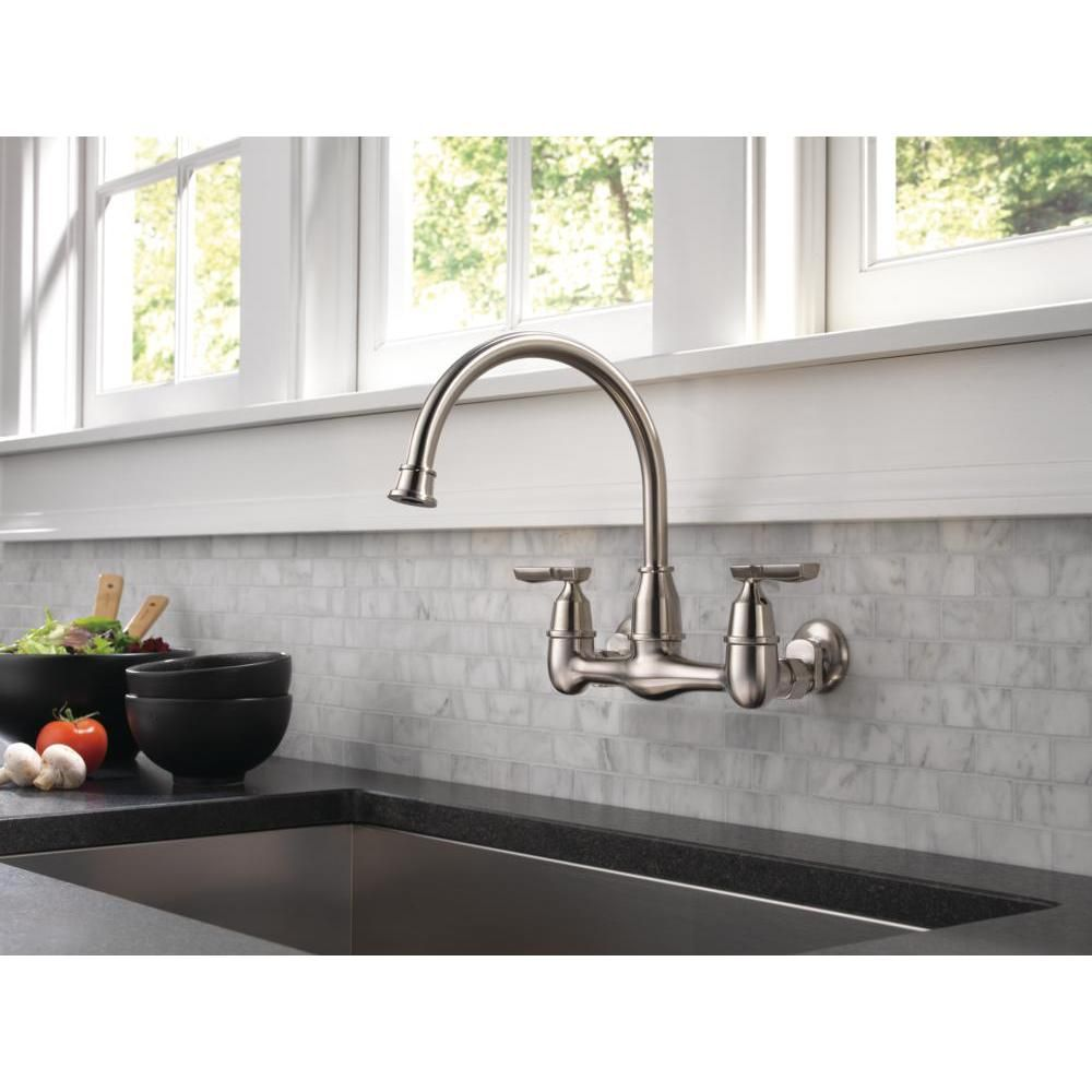Pin On Kitchen Delta wall mounted kitchen faucet