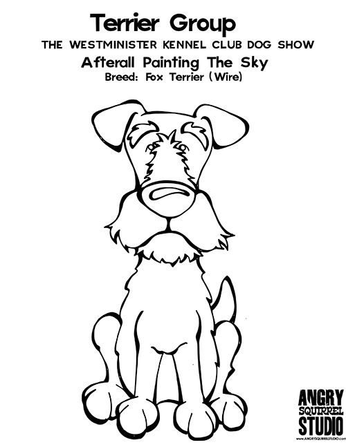 FREE COLORING PAGE: TERRIER GROUP: Afterall Painting The