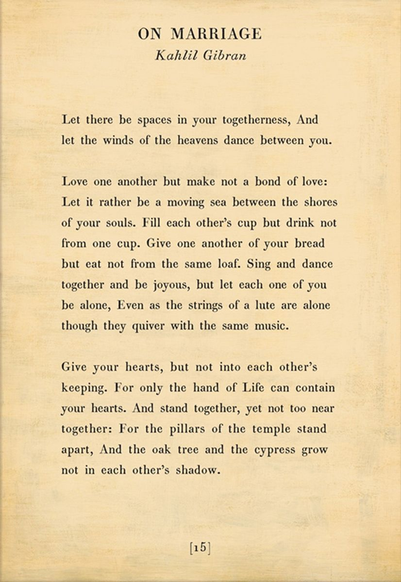 On Marriage Poetry Wall Art By Kahlil Gibran Kahlil Gibran Kahlil Gibran Quotes Kahlil Gibran Quotes Love