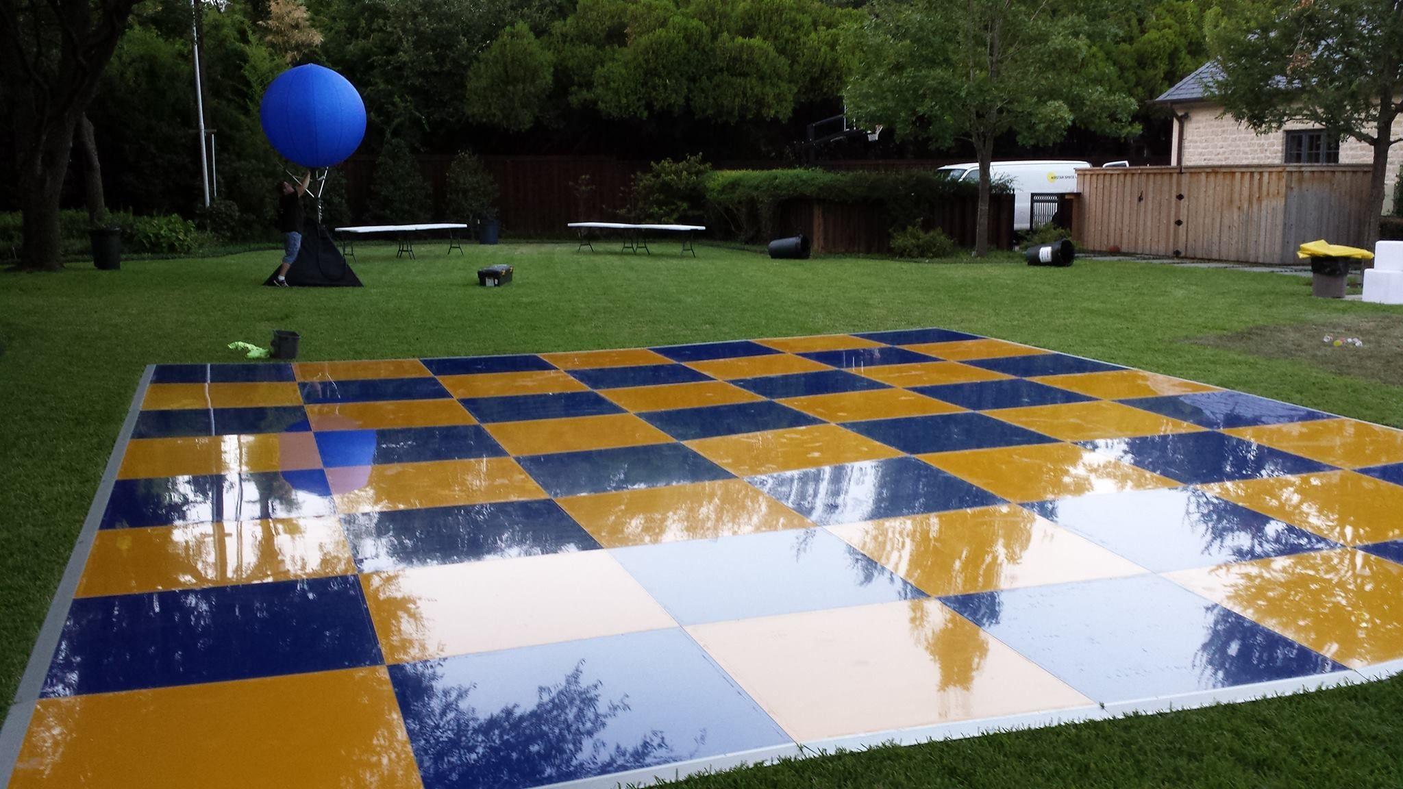 An outdoor dance floor in custom colors yes please we