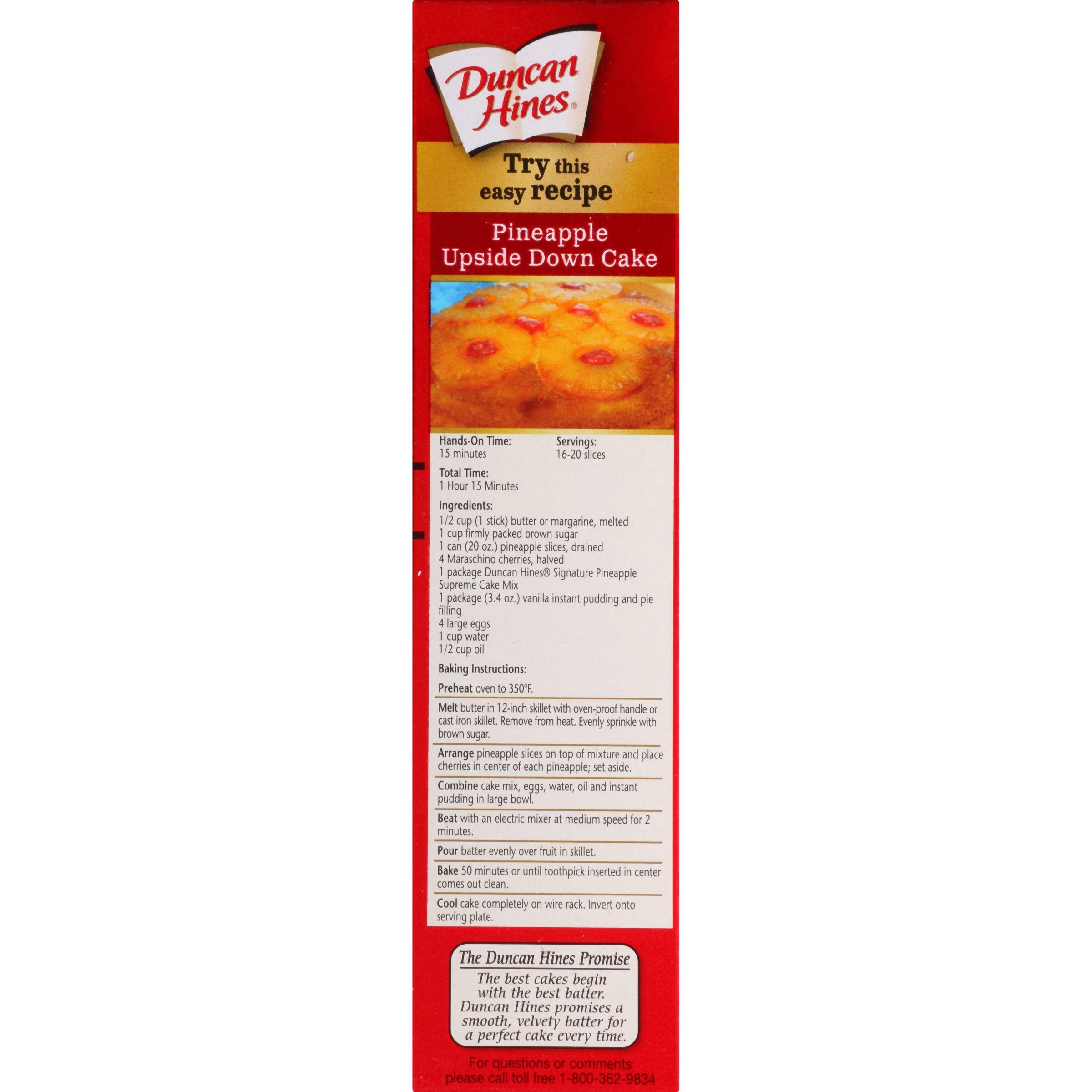 Duncan Hines Moist Deluxe Pineapple Supreme Cake Mix 18 25 Oz Walmart Com Pineapple Upside Down Cake Upside Down Cake Box Cake Recipes