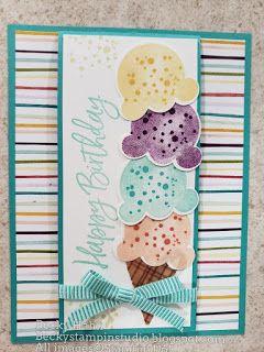 Sweet Ice Cream Flip Up Card
