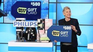 Ellen giveaways youtube
