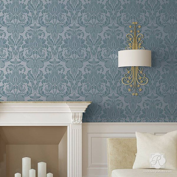 Elegant Wallpaper For Wall: DIY Room Makeover Using Elegant Wall Patterns