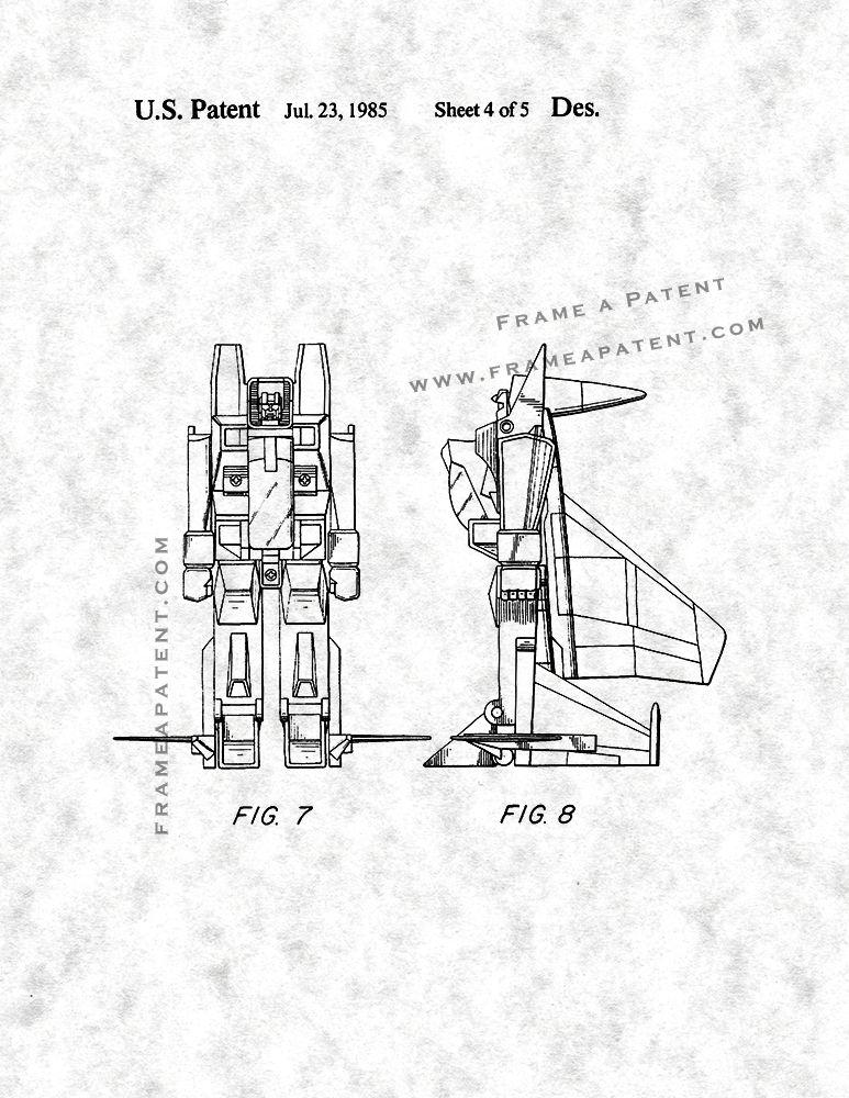 Reconfigurable Toy Plane Patent Print